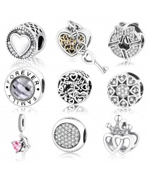Outono chegar autêntico 925 sterling silver charms fit
