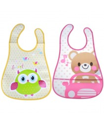 Bonito cartoon impermeável Baby bib
