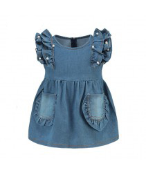 Vestido da veste da princesa do denim (estilo europeu)