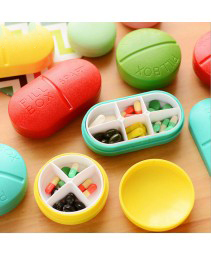 Cute mini portátil 6 slots Pill Case (moderno)