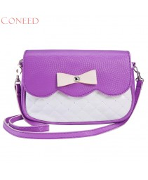 Fashion handbacks encantador agradável bowknot moda crossbody