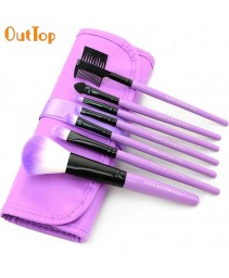 7pcs/set maquiagem brushes moda madeira roxa make-up