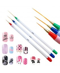 3pcs pincel nail art design set pontilhando pintura